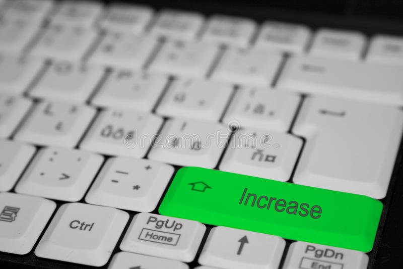 Un aumento dominante de la prensa imagen de archivo libre de regalías