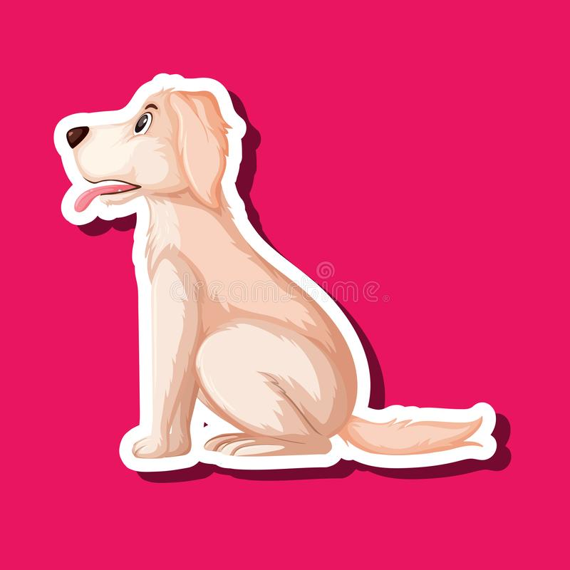 Un autoadesivo di golden retriever illustrazione di stock