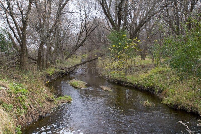 Un automne d'apparence de rivière dans le Midwest image libre de droits