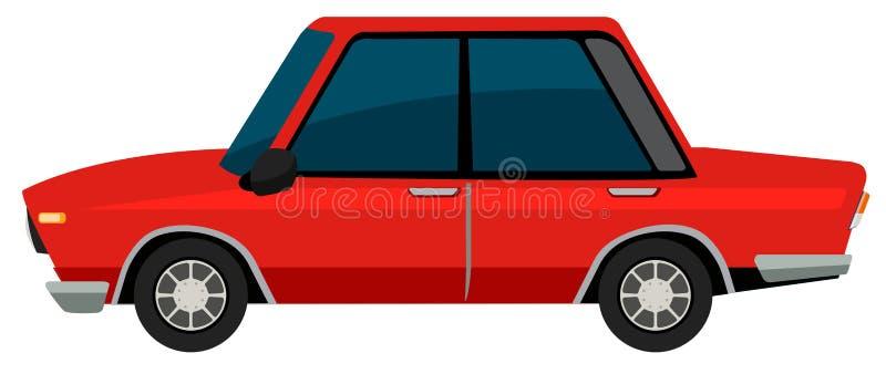 Un'automobile del vinatge su fondo bianco royalty illustrazione gratis