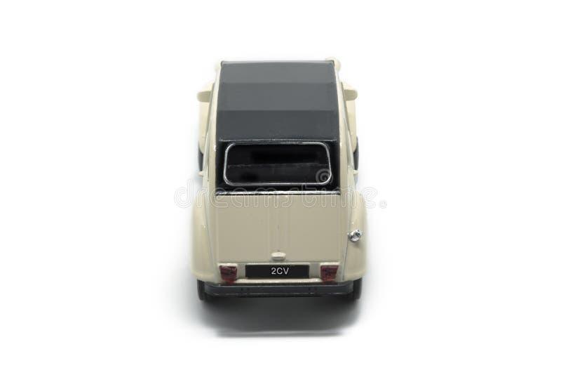 Un'automobile di Citroen 2CV della parte posteriore dell'epica immagine stock libera da diritti