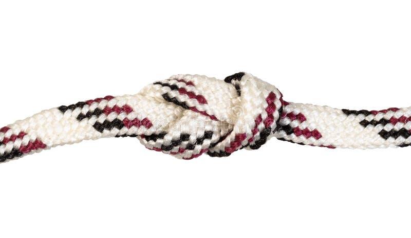 un autre côté de noeud de noeud de figure-huit sur la corde image stock