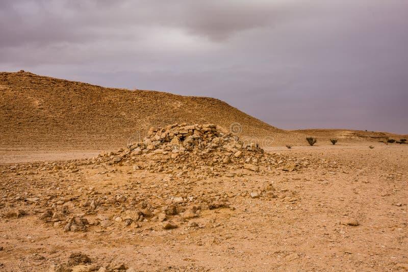 Un avant-poste ruiné près d'Abu Jifan Fort, province de Riyadh, Arabie Saoudite photo libre de droits