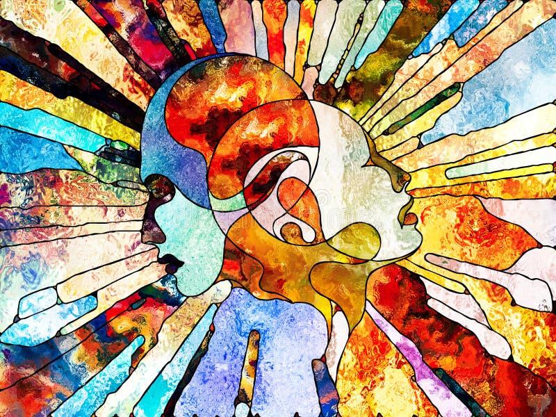 Un avec le monde illustration libre de droits