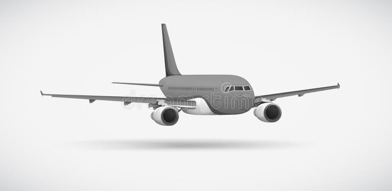 Un avión stock de ilustración