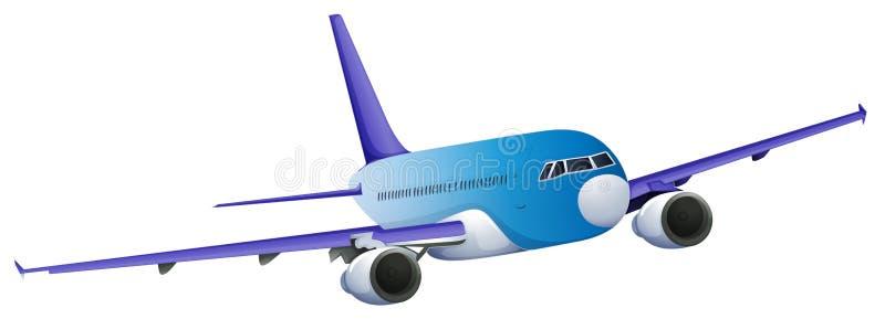Un avión azul ilustración del vector