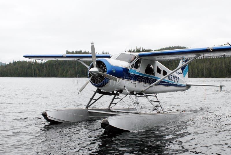 Un avión del arbusto realiza el taxi adentro en Alaska imagen de archivo libre de regalías