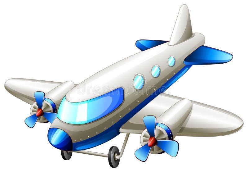 Un avión del azul del vintage libre illustration