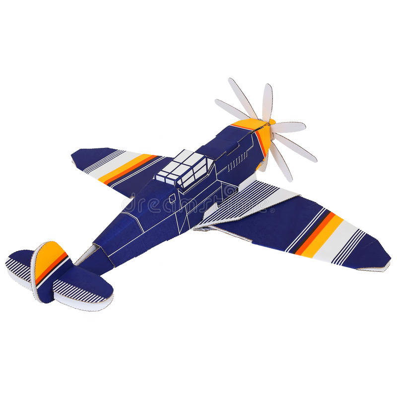 Un avion de papier images stock