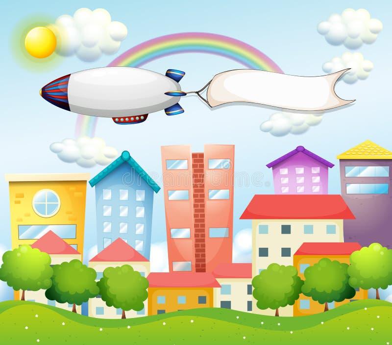Un avion et la bannière vide illustration libre de droits