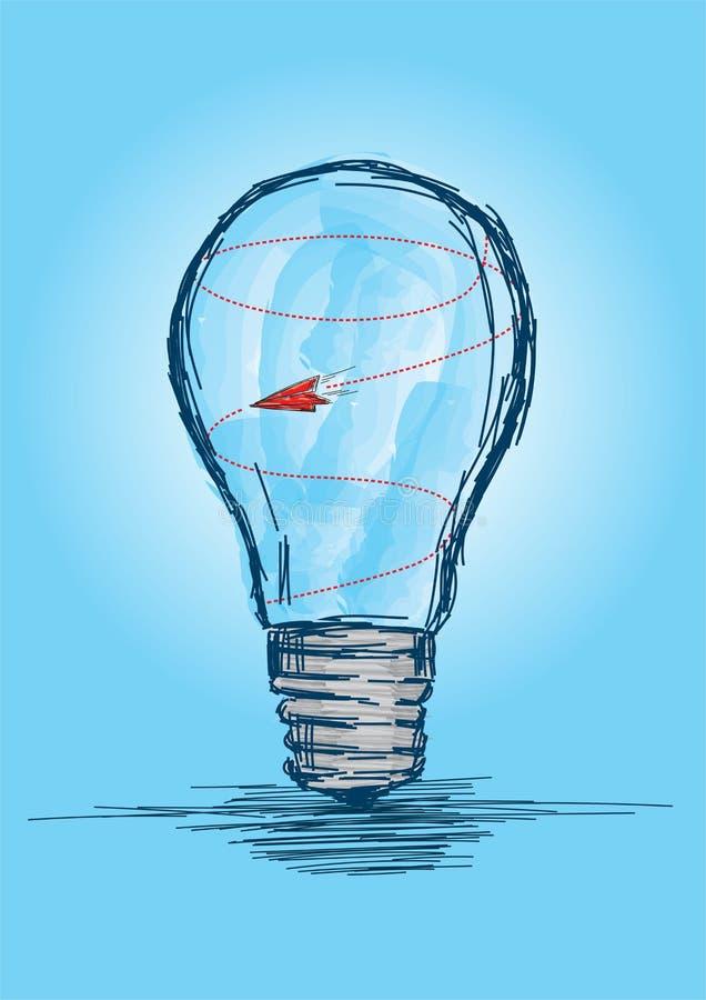 Un avion piégé dans une bombe - Illustration d'un vecteur de concept hors d'idées illustration libre de droits