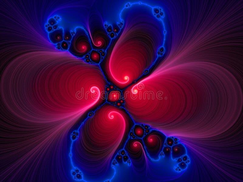 Un azzurro rosso di turbinio liquido royalty illustrazione gratis