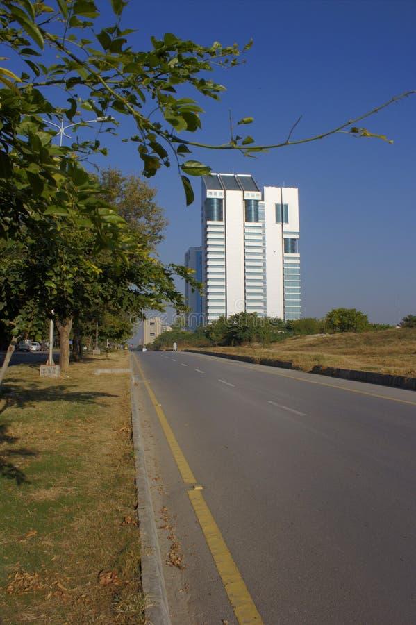 Un bâtiment d'une tour à Islamabad photo stock