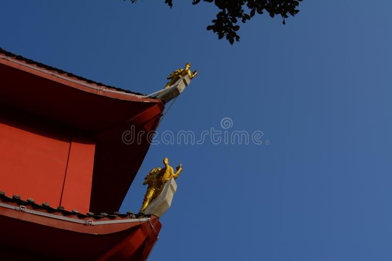 Un bâtiment des temples de Taoist en Chine image libre de droits