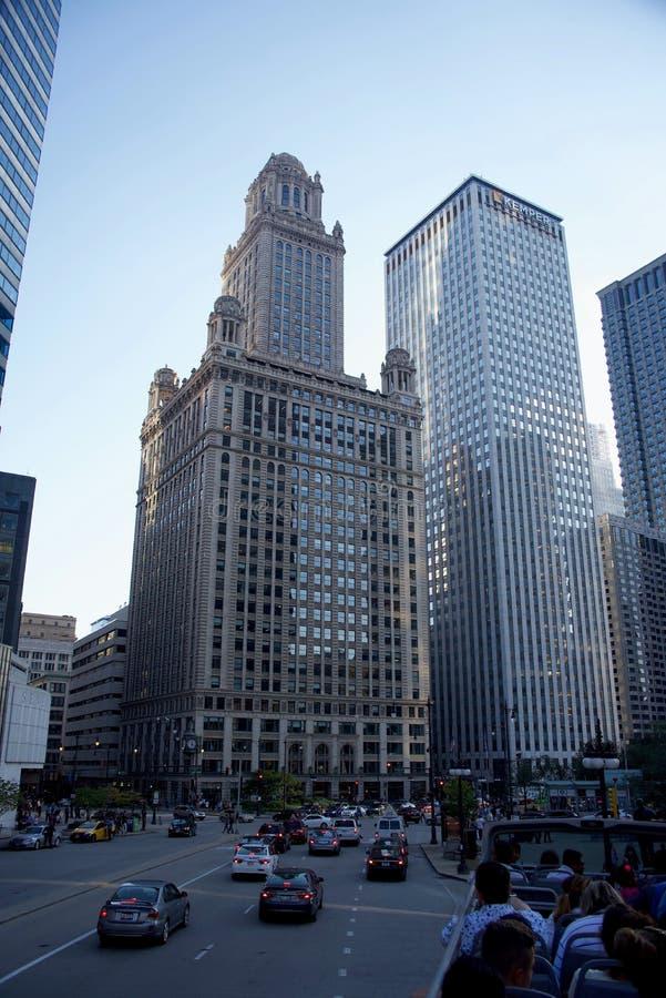Un bâtiment du nord de gratte-ciel de LaSalle, Chicago l'Illinois photos stock