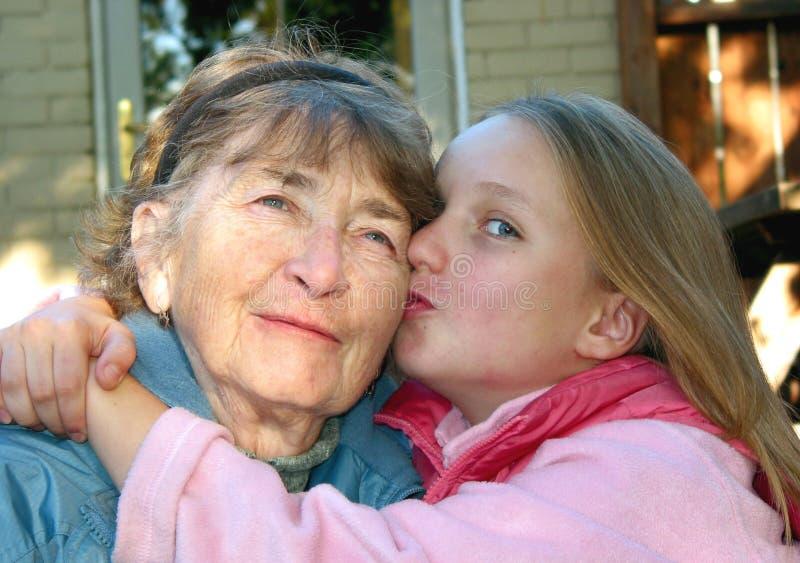 Un bacio fotografia stock libera da diritti
