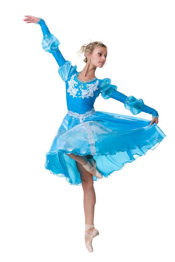 Un bailarín de ballet caucásico de la bailarina de la mujer joven imagen de archivo