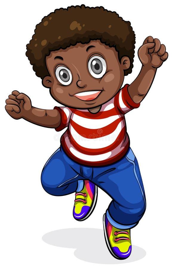 Un baile joven del hombre negro stock de ilustración