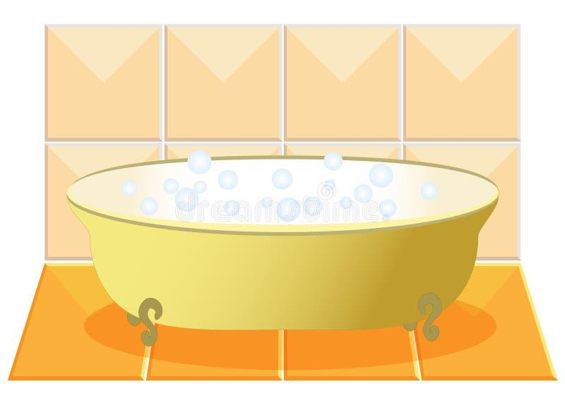 Un bain illustration stock