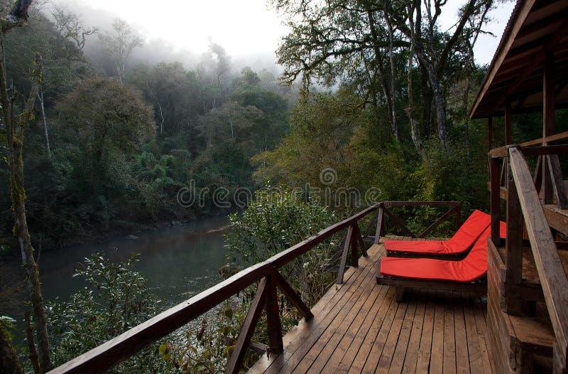 Un balcón a la selva fotografía de archivo libre de regalías