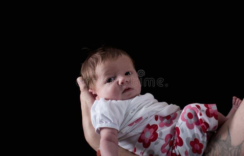 Un bambino appena nato fotografia stock