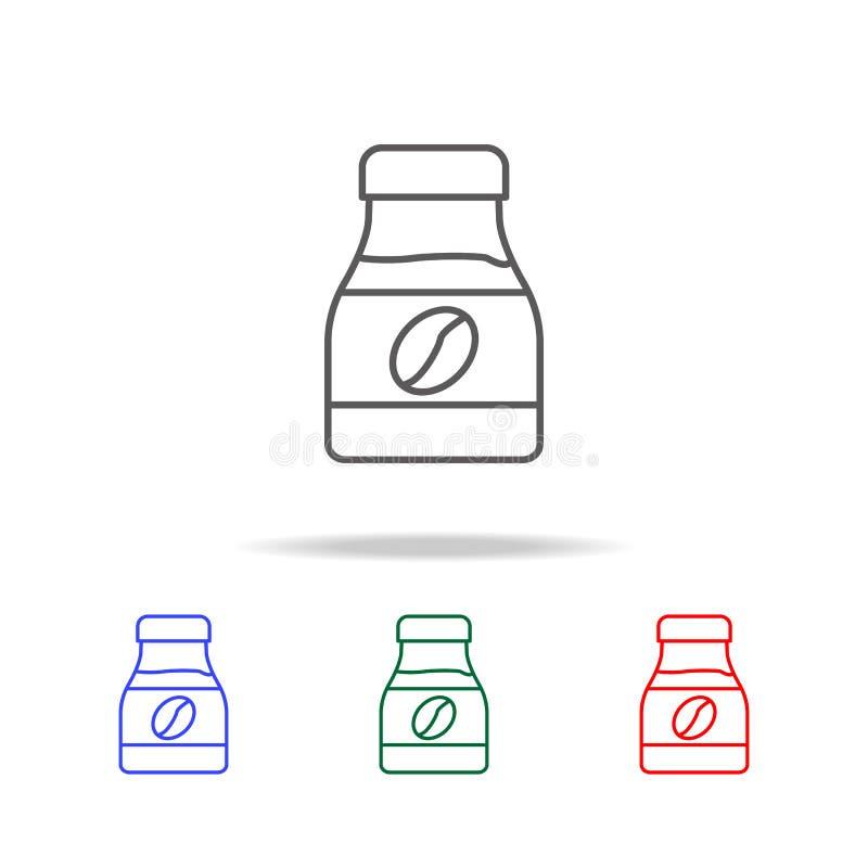 un banco del icono del café instantáneo Elementos del colmado en iconos coloreados multi Icono superior del diseño gráfico de la  ilustración del vector