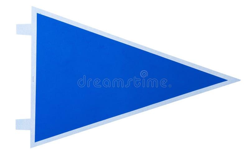 Un banderín azul en blanco imagen de archivo libre de regalías