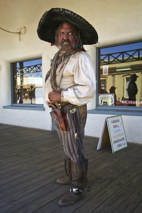 Un Bandolero di Helldorado, pietra tombale, Arizona immagini stock