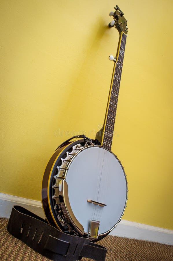 Un banjo di cinque corde immagini stock libere da diritti