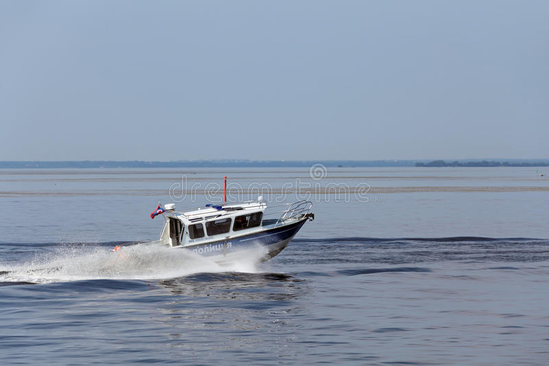 Un barco de policía foto de archivo libre de regalías