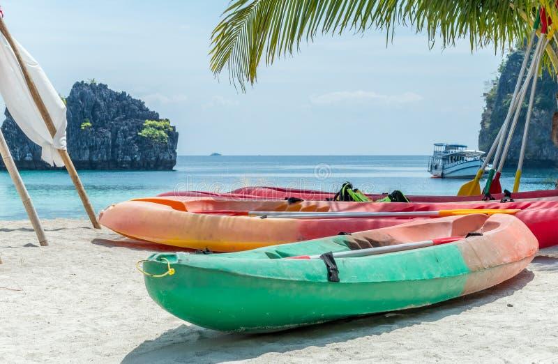 Un barco para kayaking fotos de archivo libres de regalías