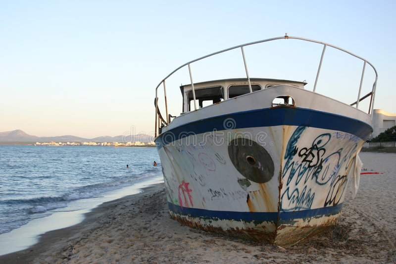 Un Barco Viejo Foto de archivo
