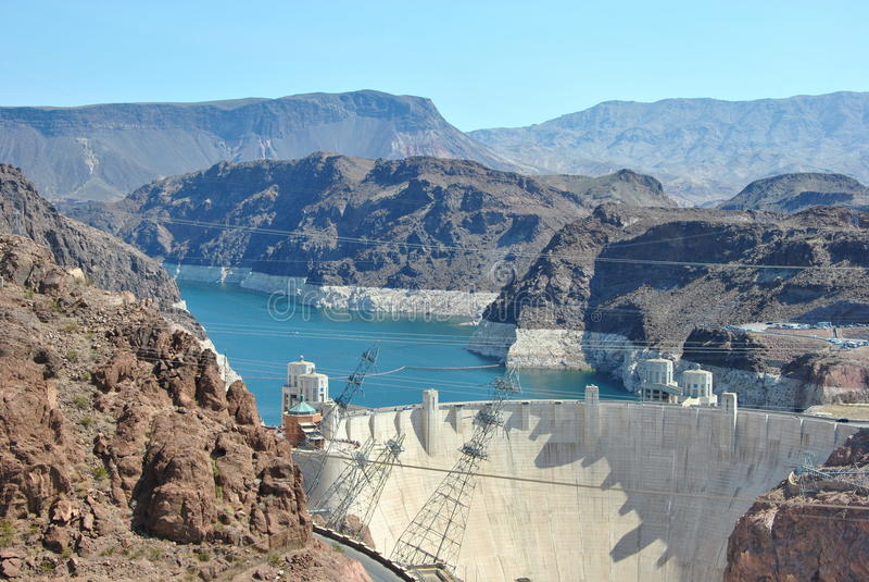 Un barrage de Hoover photographie stock libre de droits