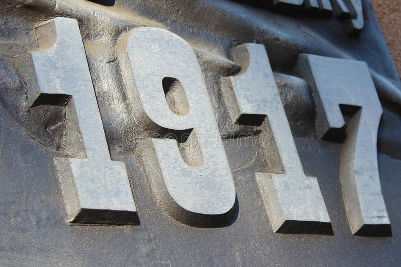 un bassorilievo di 1917 anni immagine stock
