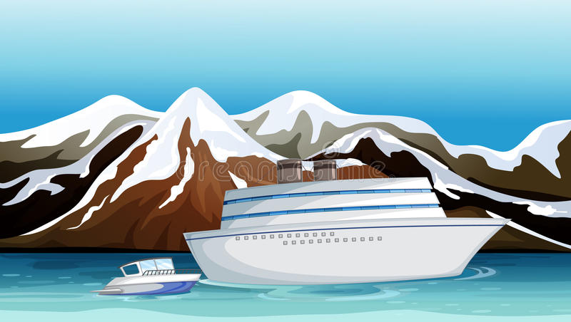 Un bateau perdu illustration libre de droits