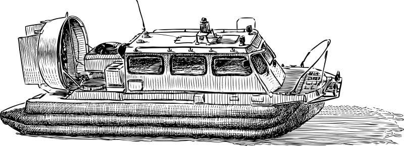 Un bateau sur l'airbag illustration stock