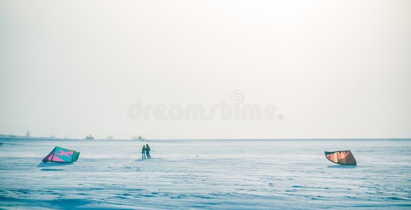 Un beau, brumeux matin dans les collines norv?giennes en hiver Paysage blanc et flou photos libres de droits