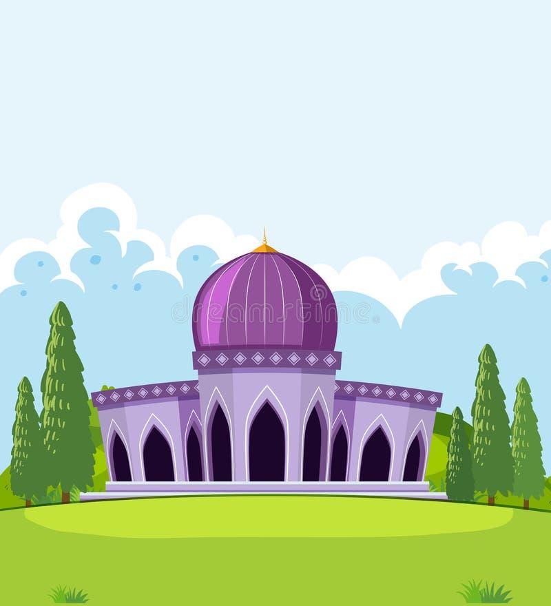 Un beau calibre de mosquée illustration de vecteur