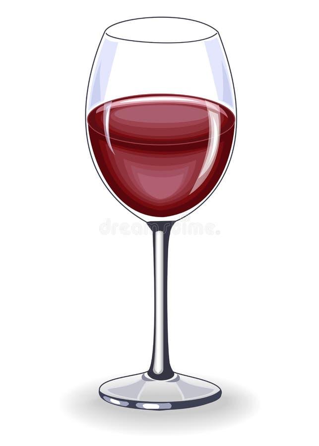 Un beau verre cristal de vin rouge délicieux D?coration de la table de f?te Illustration de vecteur illustration de vecteur