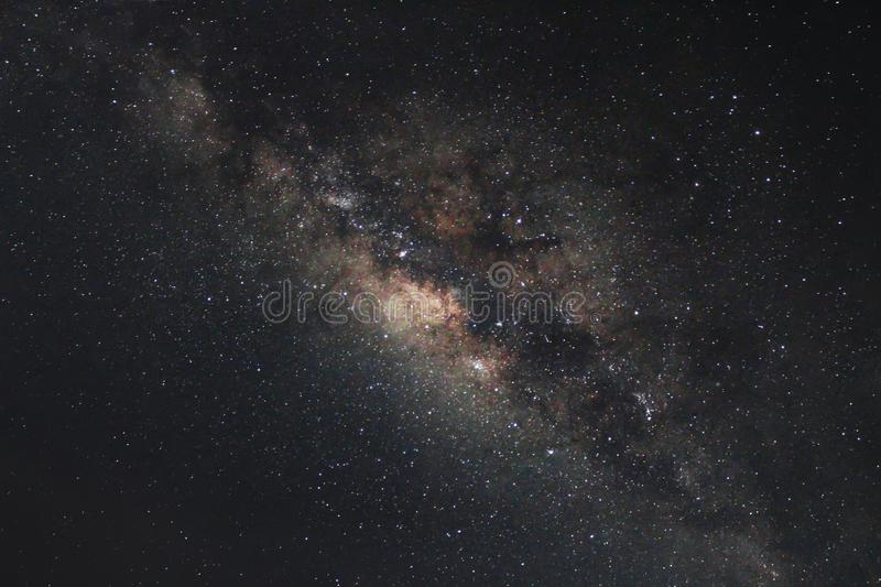 Un bello milkyway ad estate immagine stock