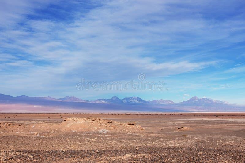 Un bello paesaggio nel deserto di Atacama fuori di San Pedro immagine stock libera da diritti