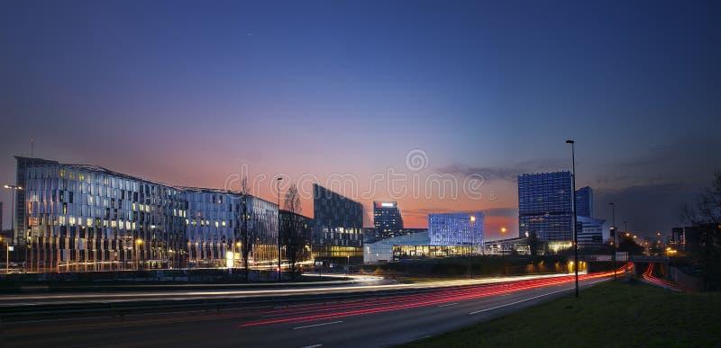 Un bello panorama dell'orizzonte di Lille immagini stock libere da diritti