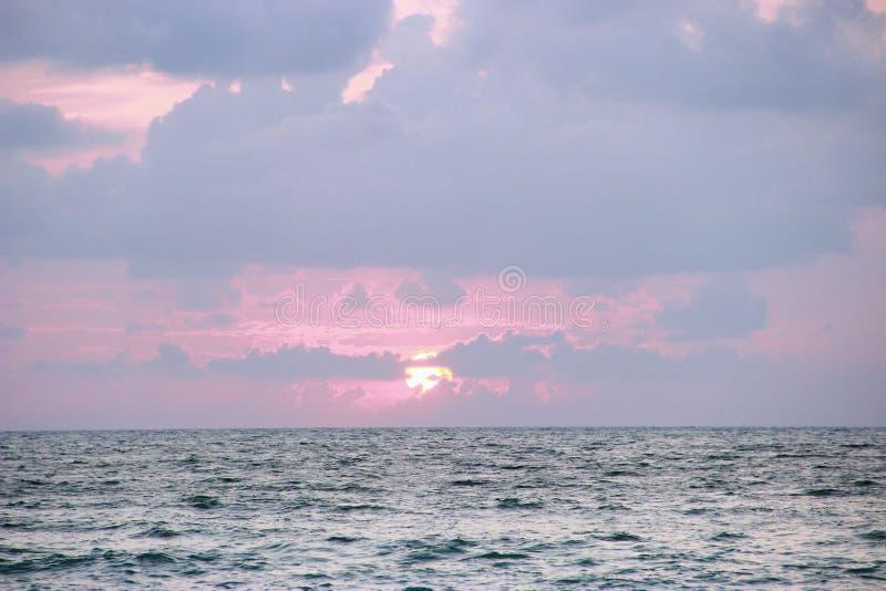 Un bello tramonto immagine stock