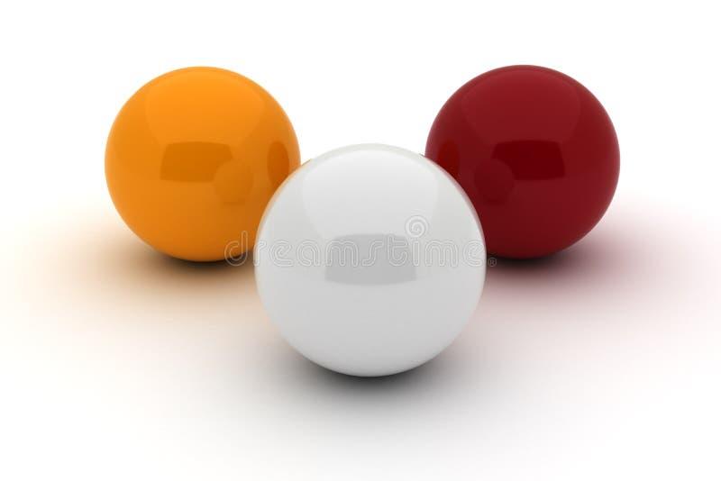 Un biliardo di tre palle royalty illustrazione gratis