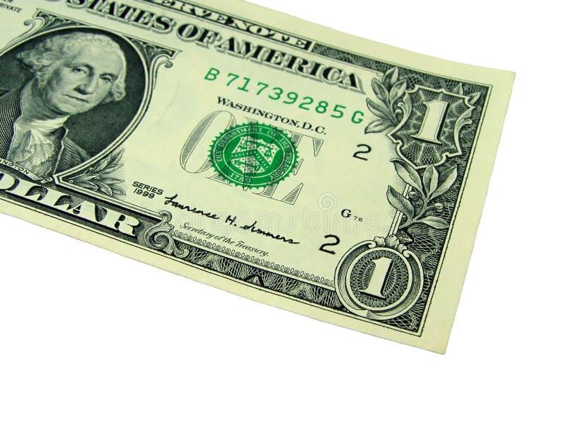 Un billet d'un dollar photo stock