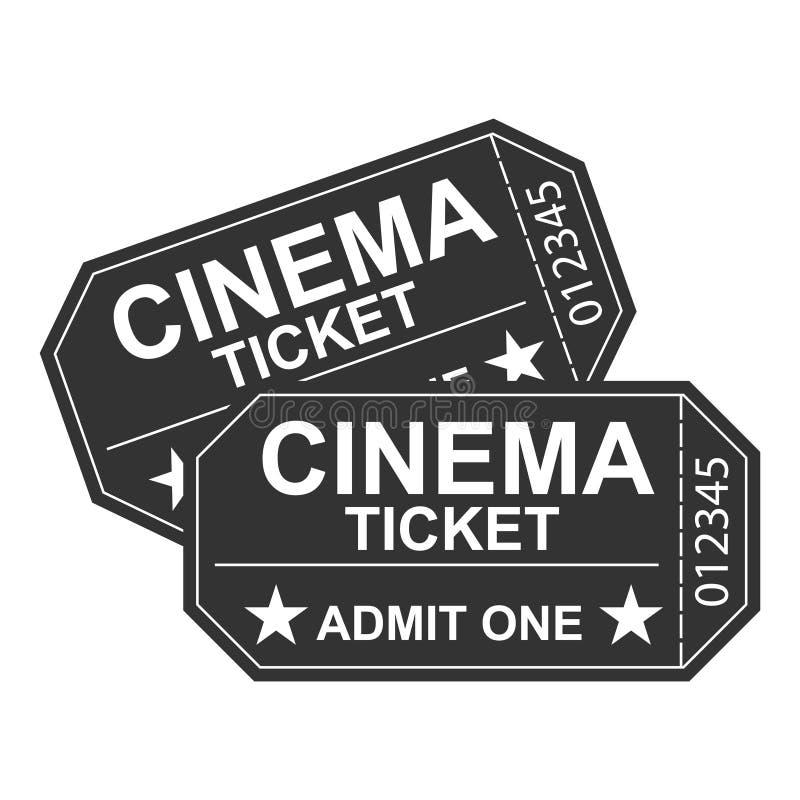 Un billet de film, un rétro billet de cinéma Un cinéma illustration de vecteur