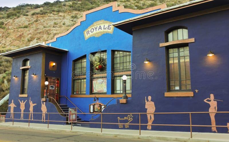 Un Bisbee Royale Theatre Shot, Bisbee, Arizona photographie stock libre de droits