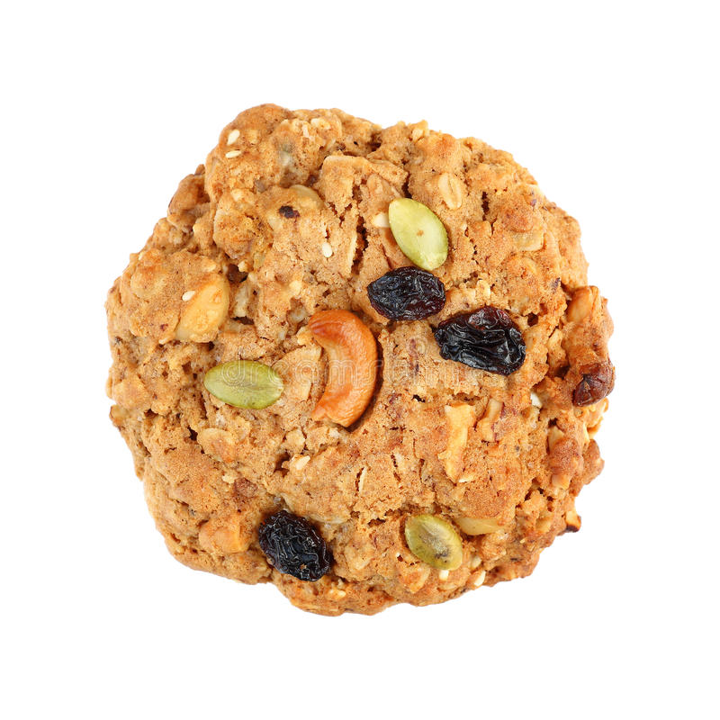 un biscotto del cereale isolato su bianco immagine stock