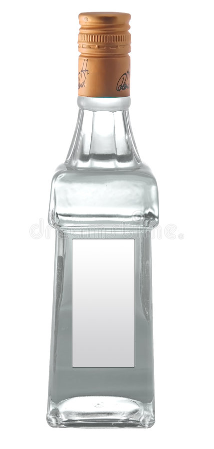 Un bollte de la vodka imagen de archivo libre de regalías