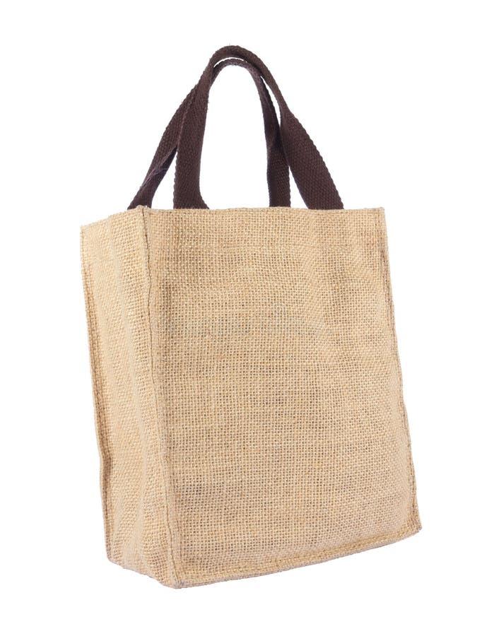 Un bolso de compras de la ecología del reciclaje imágenes de archivo libres de regalías